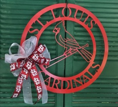 St Louis Cardinals Door Wreath