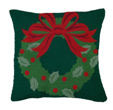 Wreath Hooked Pillow