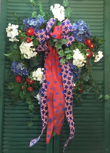 Red-White & Blue Wreath