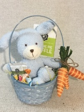 Blue Puppy Basket