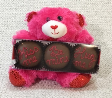 Pink Valentine Bear With Oreos