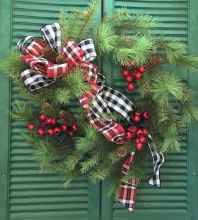 Silk Christmas Wreath