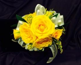 Sunshine Yellow Wrist Corsage