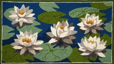 Water Lily Hooked Rug