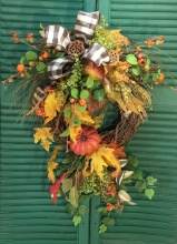 Silk Fall Wreath