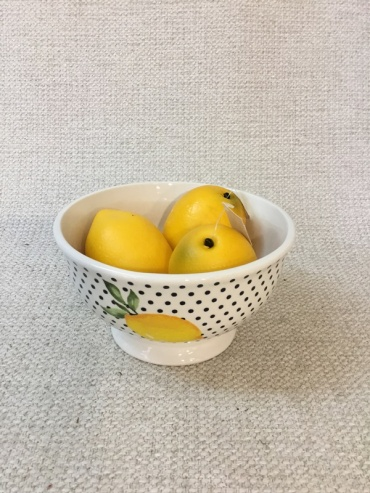 Lemon and Polka Dot Bowl