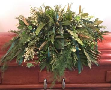 Mixed Foliage Casket Cover
