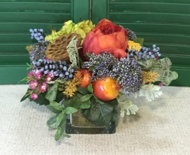 Fall Silk Cube Arrangement