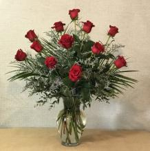 12 Long Stemmed Red Roses