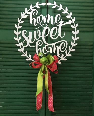 Home Sweet Home Door Wreath