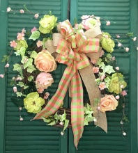 Peach & Green Wreath
