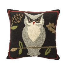 Woodland Pillow With Owl